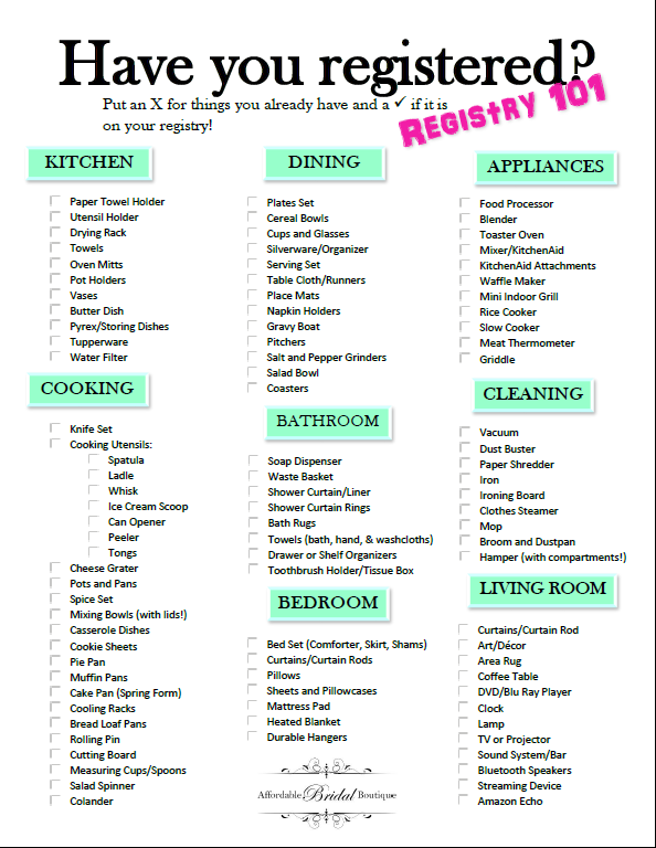 Everything You Need To Know Before You Start Your Registry